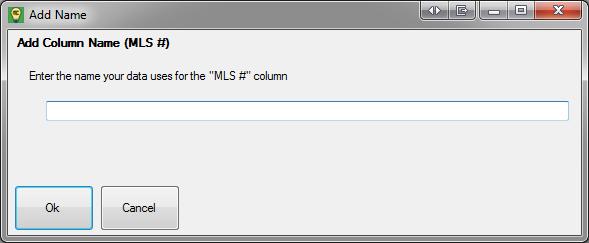 Adding a column name