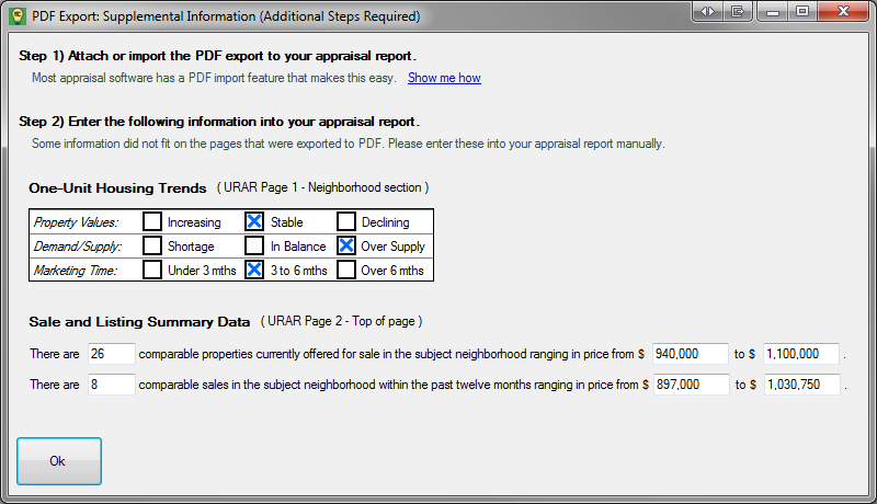 PDF Export Supplemental Information